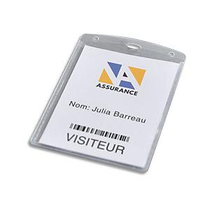 AVERY Boîte de 50 pochettes badges format A6 avec inserts