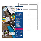 Avery C32016-10 - Cartes de visite blanches à bords lisses - 85 x 54 mm - Impression laser