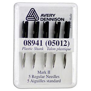 AVERY DENNISON Aiguilles pour pistolet à étiqueter standard - Métal (paquet 5 unités)
