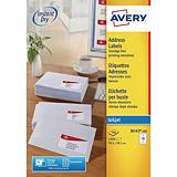 Avery Étiquettes blanches pour imprimante jet d'encre J8163, 99,1 x 38,1 mm, 14 étiquettes par feuille