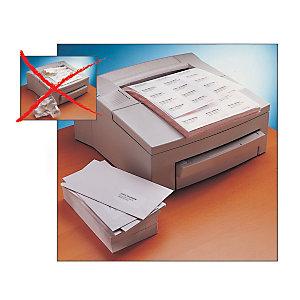 Avery Étiquettes courrier pour imprimantes laser, 99,1x33,9mm, 40feuilles, 16étiquettes par feuille, auto-adhésives, blanc