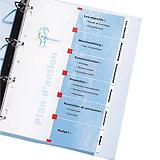 Avery IndexMaker™ Separadores imprimibles, A4, cartón, 12 pestañas, azul y blanco