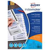 Avery IndexMaker™ Separadores imprimibles, A4, cartón, 12 pestañas, transparente