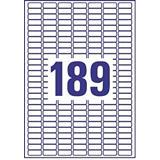 Avery (L4731REV-25) Etiquetas removibles láser cantos romos 25,4 x 10 mm. 189 etiquetas/hoja