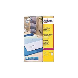 AVERY Laser Etiket transparant, L7560-25m, 63,5 x 38,1 mm, 21 etiketten per vel (25 vel)
