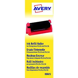 Avery LOT DE 5 ROULEAUX ENCREURS NOIRS POUR PRICING GUNS MARQUE AVERY (IRAV5)