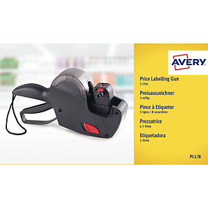 AVERY Pinces à étiqueter - 1 ligne - Avery
