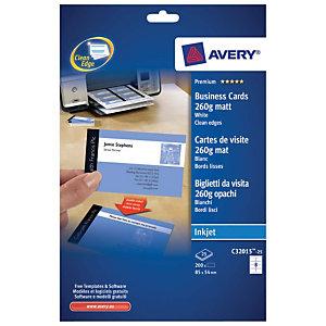 Avery Quick&Clean Tarjetas de visita a doble cara mate 260 g/m²
