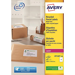 Avery QuickPEEL Recycled Labels - étiquettes adresses - 100 étiquette(s)