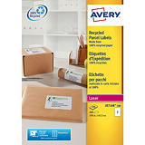 Avery QuickPEEL Recycled Labels - étiquettes adresses - 200 étiquette(s)##Avery QuickPEEL Recycled Labels - adresetiketten - 200 etiket(ten) - 143.5 x 199.6 mm