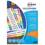 Avery Ready Index™ Separadores numéricos 1-6, A4, cartón, 6 pestañas, blanco