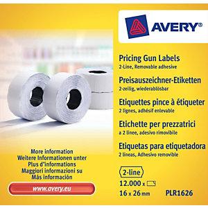 Avery Rouleau d'étiquettes pour pince à étiqueter  - 2 lignes - blanc - enlevable