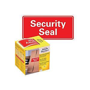 AVERY Zweckform Etichette prestampate in rotolo antimanomissione, Security Seal VOID, 78 x 38 mm, 100 etichette per rotolo