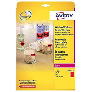 Avery Zweckform L6005 - etiketten - 20 etiket(ten) - A4