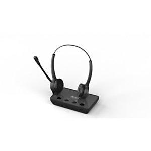 Axtel Prime X3 Duo - Casque sans fil Stéréo + Station de recharge - Noir
