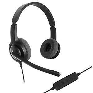 Axtel Voice UC28 HD Duo NC - Casque filaire Stéréo USB - Noir