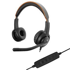 Axtel Voice UC40 HD Duo NC - Casque filaire Stéréo USB - Noir
