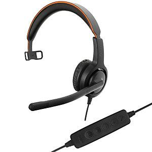Axtel Voice UC40 HD Mono NC - Casque filaire USB - Noir