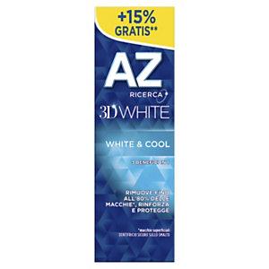 AZ 3D White & Cool Dentifricio, Tubetto 75 ml