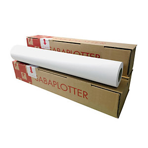 Sa.Ba.cart Carta per plotter in rotolo, 80 g/m², 61 cm x 50 m