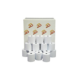 Sa.Ba.cart Carta per registratori di cassa in rotolo, Omologata, 57,5 mm x 30 m, ø int. 12 mm (confezione 10 pezzi)