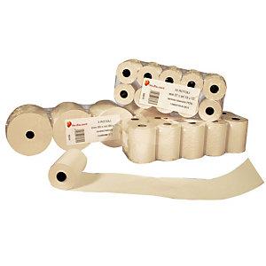 Sa.Ba.cart Rotoli termici neutri per calcolatrici e/o POS - Dimensioni 57 mm x 25 m x 12 mm diametro interno (confezione 10 pezzi)