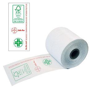 Sa.Ba.cart Rotoli termici omologati per registratori di cassa - Dimensioni 57 mm x 30 m x 12 mm diametro interno (confezione 10 pezzi)