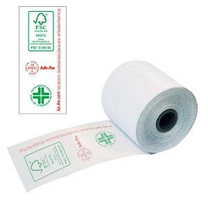 Sa.Ba.cart Rotoli termici omologati per registratori di cassa - Dimensioni 57 mm x 60 m x 12 mm diametro interno (confezione 10 pezzi)