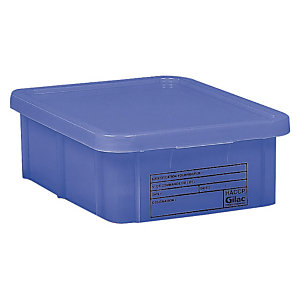 Bac bleu HACCP avec couvercle 35 L Gilac