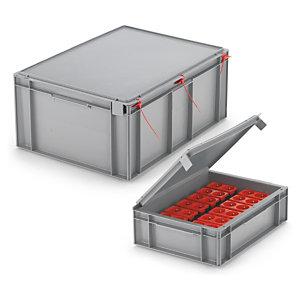 Bac gerbable norme Europe avec couvercle intégré 28 litres