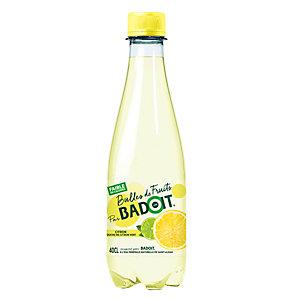 Badoit Bulles de fruits Eau minérale gazeuse Citron touche de citron vert - Bouteille 40 cl