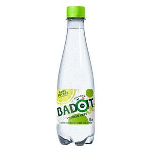 Badoit Eau minérale pétillante aromatisée Citron vert 50 cl (lot de 30 bouteilles)