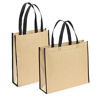 Bærepose med yderside i kraftpapir