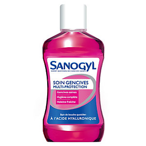 Bain de bouche Sanogyl soin multi-protection, flacon de 500 ml
