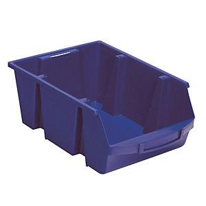 Bakje met schuine wand blauw 28L