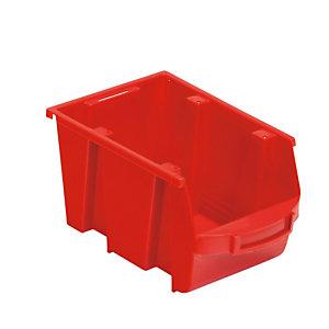 Bakje met schuine wand rood 4L