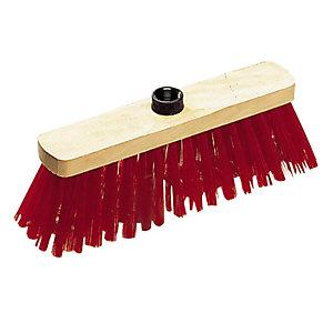 Balai de cour PVC rouge 29 cm