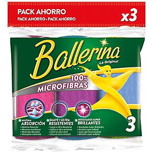 Ballerina 100% Microfibras Bayeta de microfibra multiusos, 32 x 36 cm,  colores surtidos