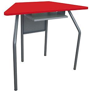 Banco per ambienti creativi, 87,6 x 43,5 x 64 cm, Rosso