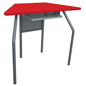 Banco per ambienti creativi, 87,6 x 43,5 x 70 cm, Rosso