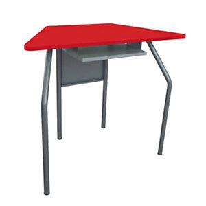 Banco per ambienti creativi, 87,6 x 43,5 x 76 cm, Rosso