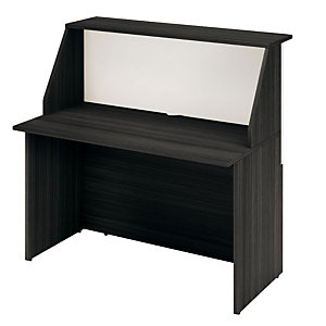 """Bancone 140 nero/bianco """"Reception Oasi"""" - Dimensioni cm 140 x 76 x 117"""