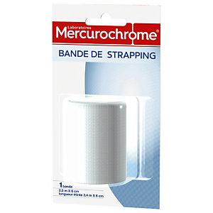 Bande de strapping Mercurochrome 2,5 m x 6 cm, lot de 2 bandes