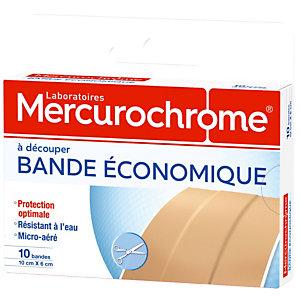 Bandes à découper Mercurochrome 10 x 6 cm, 2 boîtes de 10 bandes