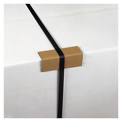 Bandskydd av kartong - Vid bruk av packband