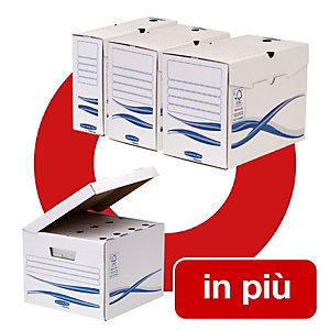 Bankers Box Bankers Box Linea Basic Offerta 25 contenitori archivio A4 dorso 19,7 cm + 5 scatole archivio Maxi con coperchio comprese nel prezzo