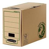 Bankers Box Boîte archives Earth Series carton dos 20 cm, pour format A4 (210 x 297 mm), H. 255 mm x l. 205 mm x P. 319 mm - Kraft naturel - 100% recyclé certifié FSC