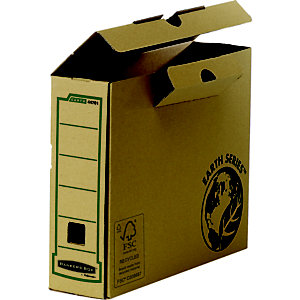 Bankers Box Caja Archivo Definitivo Cartón A4, Tapa fija, Marrón, 320 x 80 x 253 mm