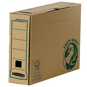 Bankers Box Caja Archivo Definitivo Cartón Folio, Automontaje Fastfold, Tapa fija, Marrón, 374 x 83 x 260 mm