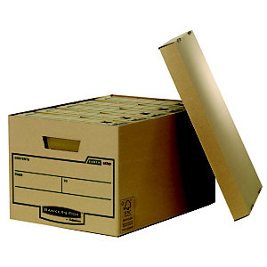 Bankers Box Cajón Archivo Definitivo Cartón A4 , Tapa suelta, Marrón, 271 mm x 335 mm x 470 mm
